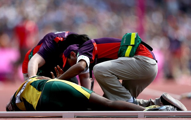 atletismo Ofentse Mogawane áfrica do sul 4x400m londres 2012 (Foto: Agência Getty Images)