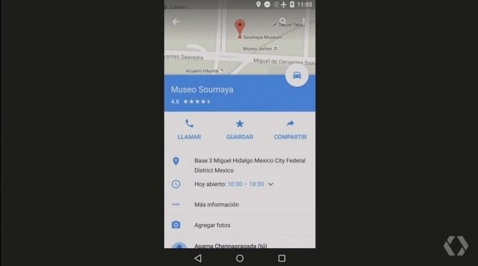 Maps Offline permitirá pesquisas e mostrará principais informações sobre local (Foto: Reprodução/Google)