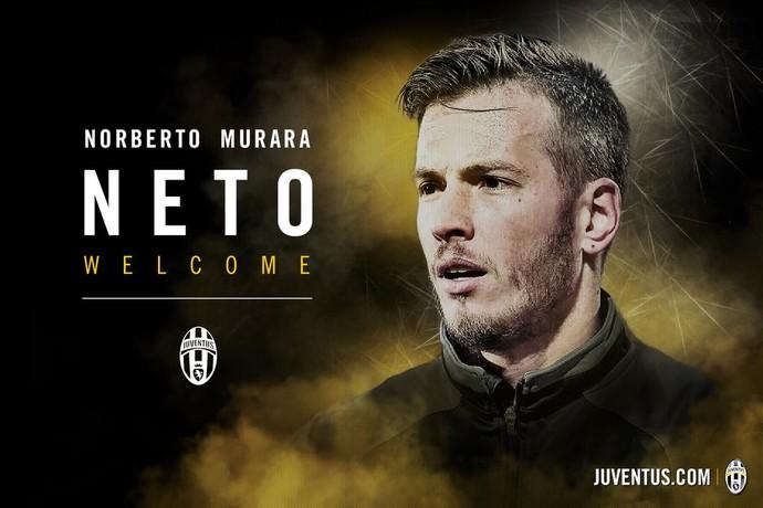 Neto goleiro Juventus anúncio (Foto: Reprodução / Twitter)