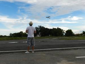 Maioria dos praticantes procura o Parque Anauá aos domingos (Foto: Bruno Perez/G1 RR)