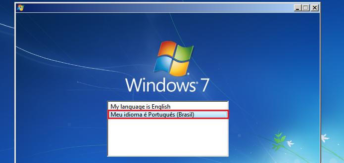 Escolhendo o idioma que será usado no instalador (Foto: Reprodução/Edivaldo Brito)