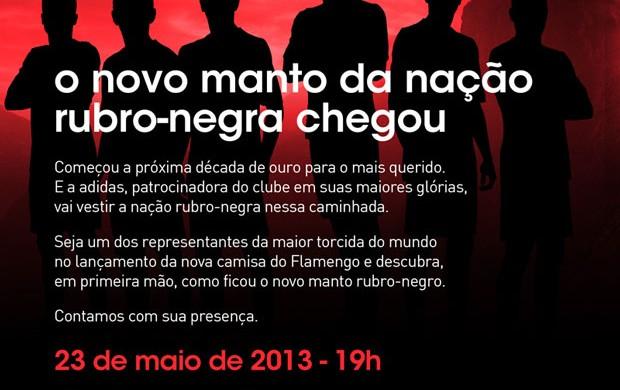 convite lançamento camisa Flamengo (Foto: Divulgação)