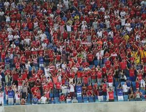 Torcida do América-RN - Arena das Dunas (Foto: Fabiano de Oliveira)