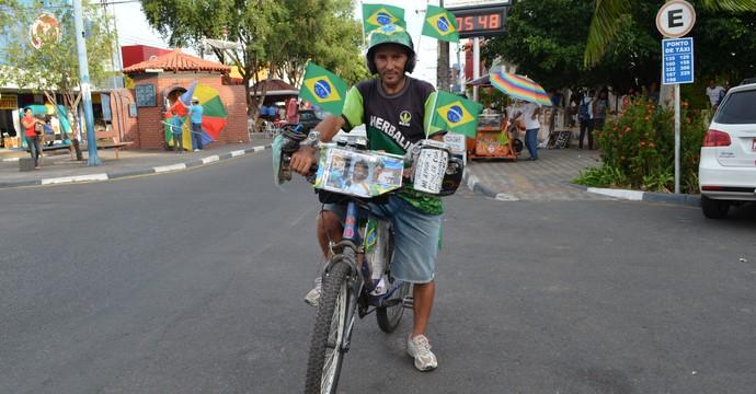 Renato Campinho, cicloturista piauiense (Foto: Nailson Wapichana/GloboEsporte.com)