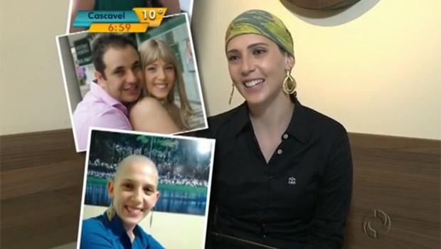Ingrid é um exemplo de determinação no combate ao câncer (Foto: Reprodução)