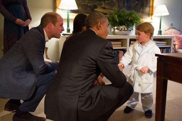 George encontra Barack Obama (Foto: Instagram / Reprodução)