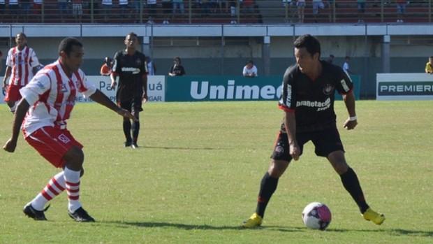 Marcinho durante vitória do Atlético-PR sobre o Rio Branco em Paranaguá (Foto: Divulgação/Site oficial do Atlético-PR)