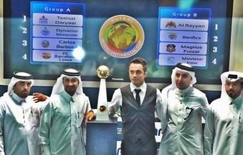 No Catar, craque Falcão faz sorteio de grupos do mundial de clubes de futsal