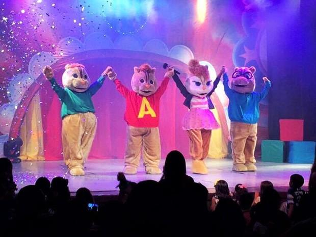Espetáculo Alvins e os Esquilos terá sessões neste final de semana (Foto: Divulgação)
