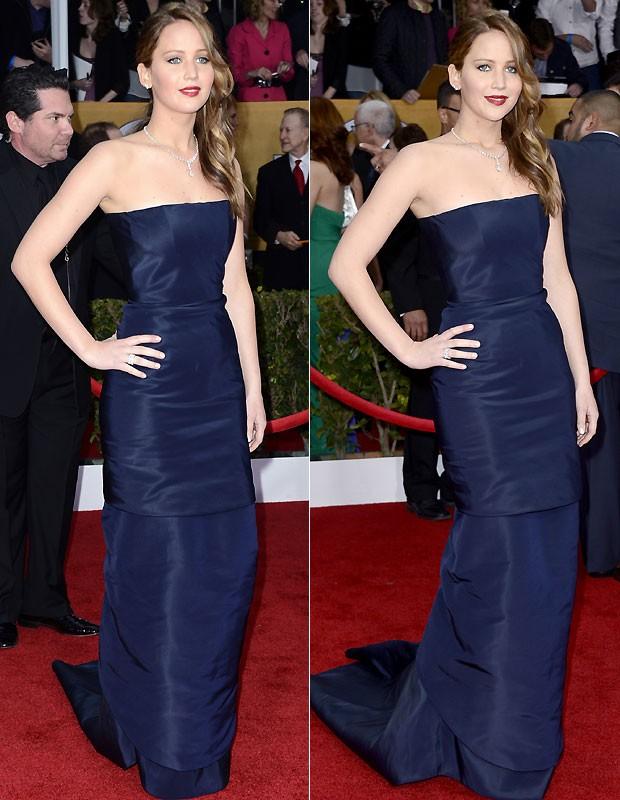 Jennifer Lawrence usou Dior (Foto: Getty Images)
