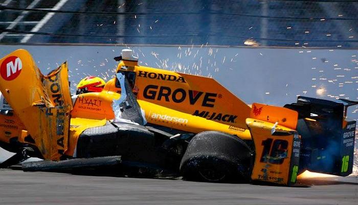 BLOG: O primeiro acidente da 100ª Indy 500