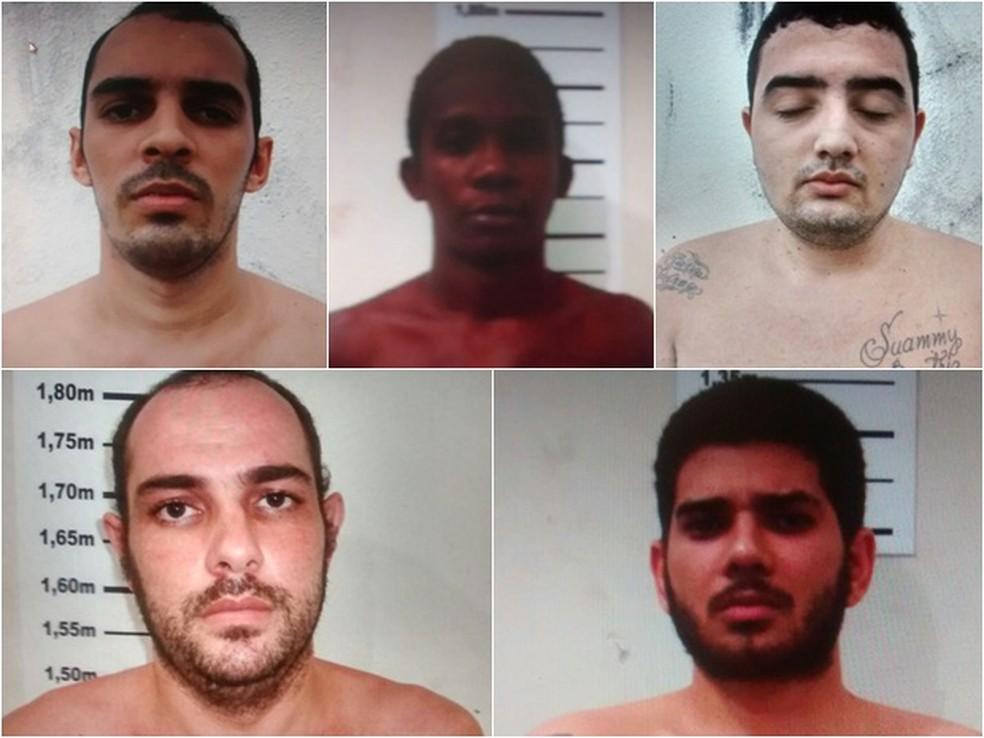 Cinco presos conseguiram escapar da Cadeia Pública de Natal, na madrugada desta terça-feira (11) (Foto: Divulgação / Sejuc)