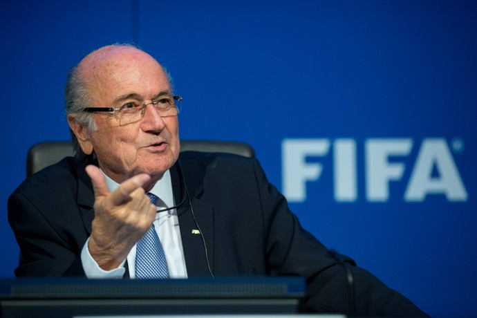 Joseph Blatter coletiva Fifa (Foto: Getty Images)