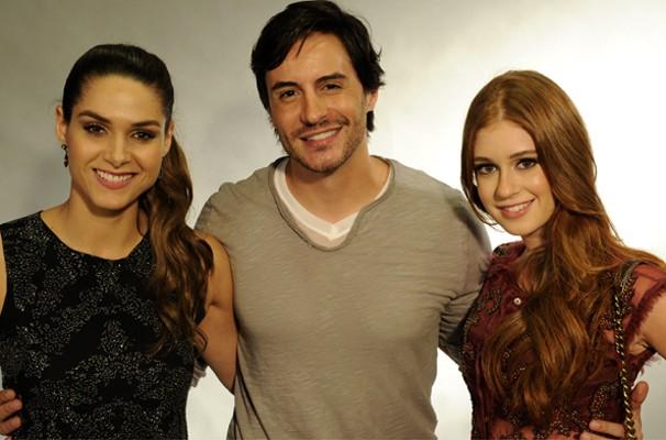 Fernanda Machado, Ricardo Tozzi e Marina Ruy Barbosa  (Foto: Estevam Avellar/TV Globo)