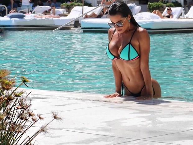 Fernanda D'avila em hotel em Miami, nos Estados Unidos (Foto: Marcos Junior/ MF Press Global/ Divulgação)
