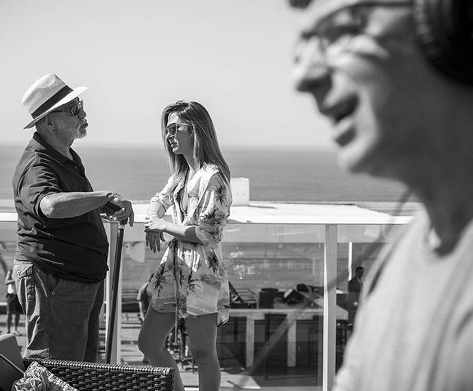 Lima e Tatá gravam com a direção de Carlos Araújo (Foto: Raphael Dias/Gshow)