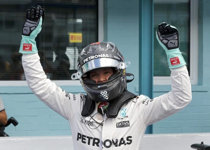 Nico Rosberg faz a pole position para o GP da Alemanha (Foto: AP)