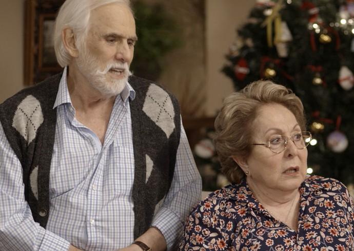 O que será que Gaetano e Geppina pensam desse possível namoro? (Foto: TV Globo)