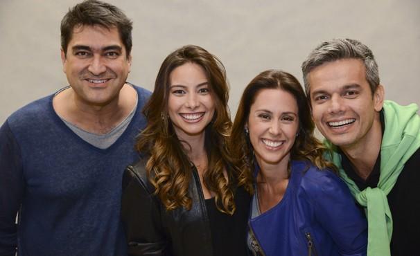 Vídeo Show passará a ser apresentaod por Zeca Camargo, que terá ao seu lado na equipe Otaviano Costa, Dani Monteiro e Marcela Monteiro  (Foto: Globo / Divulgação)
