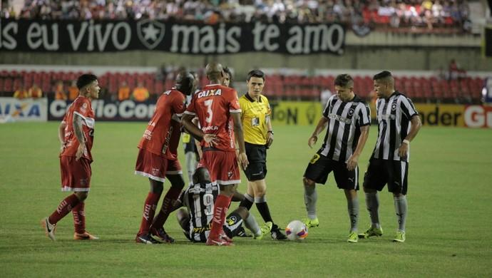 CRB x Botafogo, no Rei Pelé (Foto: Jonathan Lins/GloboEsporte.com)