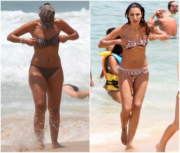 Patrícia Poeta antes e depois de perder dez quilos (Foto: AgNews)