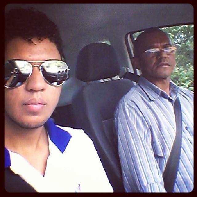 Jefferson e o pai Abimael dos Anjos (Foto: Arquivo Pessoal)
