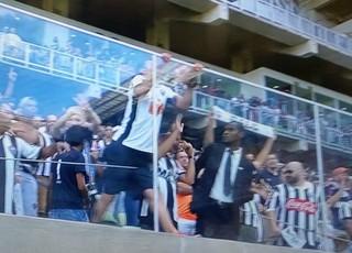Tite cusparada Corinthians x Atlético-MG (Foto: Reprodução / Premiere)