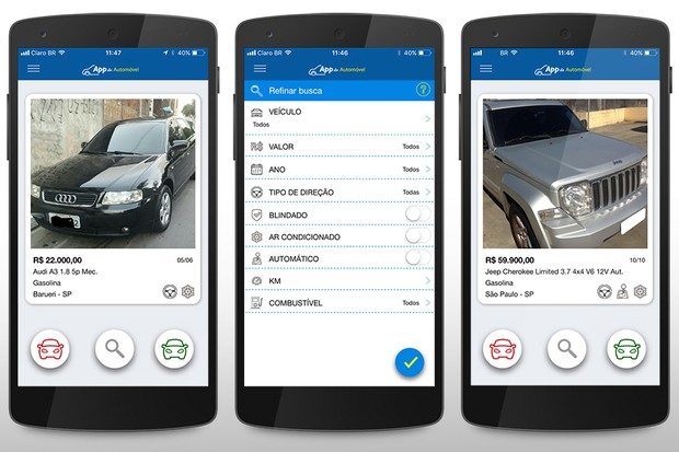 App do Automóvel (Foto: Autoesporte)