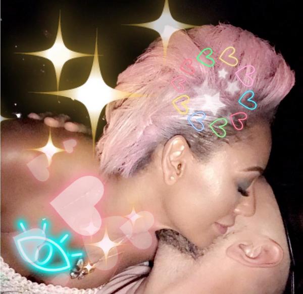 A cantora Mel B com o novo namorado (Foto: Instagram)