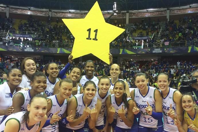 Rio de Janeiro celebra 11º título da Superliga (Foto: Reprodução/Instagram)