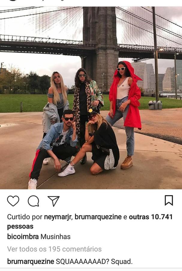 Neymar curte foto com Marquezine (Foto: Instagram/Reprodução)