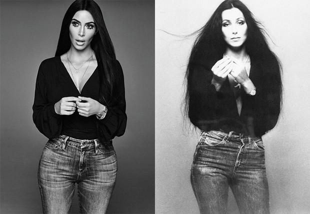 Kim Kardashian e Cher (Foto:  Mariano Vivanco e Norman Seeff )