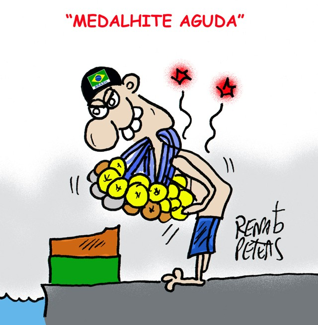 Brasil na natacao paralimpica-Charge Peters