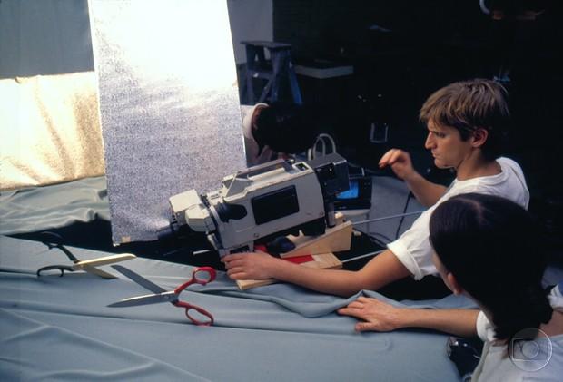 Making of da abertura de Ti-ti-ti (Foto: Acervo Globo)