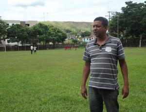 O diretor de futebol Pedrinho, está confiante nesse novo elenco. (Foto: Patrícia Belo/ Globoesporte.com)
