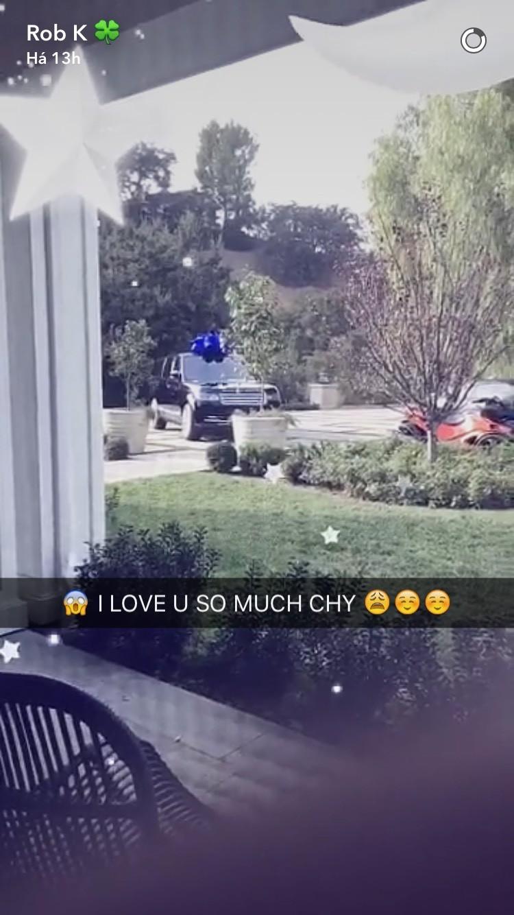 """""""Eu te amo tanto Chy"""", comemora Rob Kardashian (Foto: Reprodução)"""