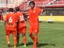 Elenco do Atibaia comemora primeira vitória no quadrangular da Série A3