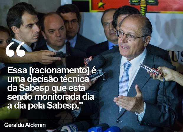 Em 25 de fevereiro de 2014, pela 1ª vez, Alckmin não descarta possibilidade de racionamento em São Paulo. (Foto: Diogo Moreira/Divulgação/Palácio dos Bandeirantes)
