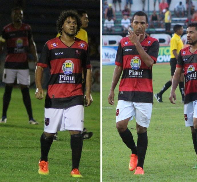 Hallysson Cacheado e João Manoel Flamengo-PI (Foto: Renan Morais)