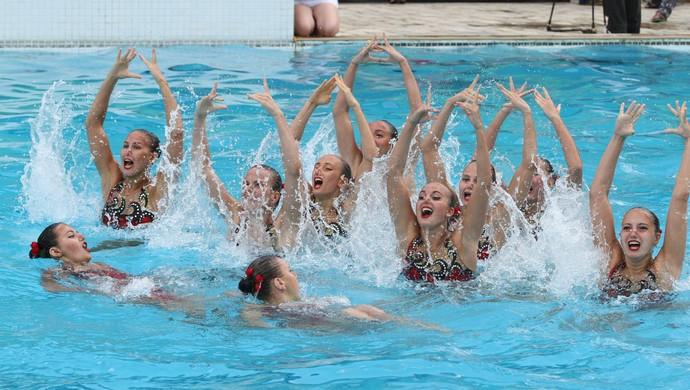 Rússia, nado sincronizado (Foto: Francisco França / Jornal da Paraíba)