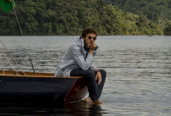 Chay Suede gravou cenas de Pedro, na primeira fase, em Piraí (Foto: Chico Couto/Gshow)