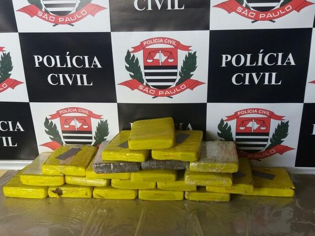 Cerca de 30kg de maconha foram apreendidos pela DISE em Sertãozinho (SP) (Foto: Divulgação/Polícia Civil)