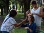 Sangue Bom: Sophie Charlotte retoca o cabelo para gravação em São Paulo