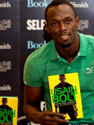 Lançamento livro Usain Bolt (Foto: Agência Reuters)