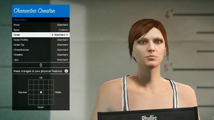 Você pode alterar a aparência do personagem antes de transferir (Foto: Youtube)