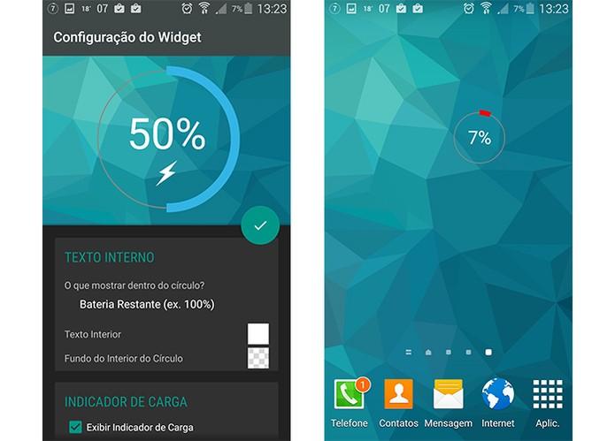 Monitore a carga do Android com o Battery Widget Reborn (Foto: Reprodução/Barbara Mannara)