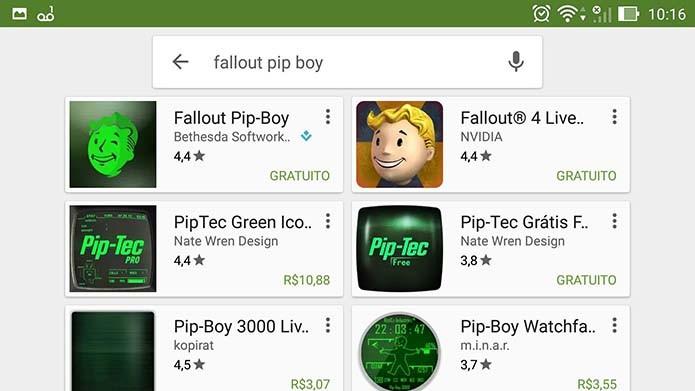 Selecione o app do Fallout 4 (Foto: Reprodução/Murilo Molina)