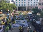 Manifestantes fazem protesto em Manaus contra governo Dilma