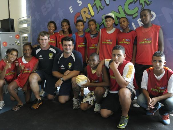 Espaço Criança Esperança do Rio de Janeiro recebe atletas do rugby (Foto: Divulgação/Estevam Avellar)