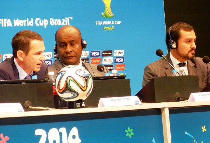 Coletiva de Segurança FIFA - Ralf, Hilário e Andrey (Foto: Vicente Seda)